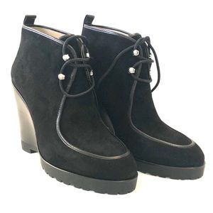 Michael Kors Lace-up Wedge Ankle Boots